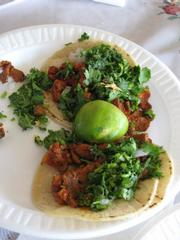 Who couldn't resist these tacos made from shredded pork?