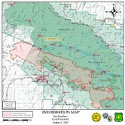 Map of Zaca Fire, August 3, 2007