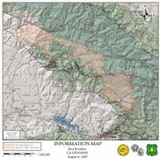 Map of Zaca Fire, August 4, 2007