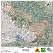 Zaca Fire Perimeter Map for August 7, 2007