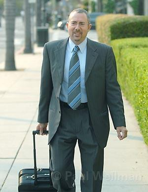 Attorney Barry Cappello at the <em>News-Press</em> NLRB hearing on August 15, 2007.