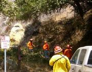 Hot Shot crews working Romero Canyon, Friday, August 17 (Zaca Fire)