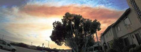 Zaca Fire smoke plume (as seen from Carpinteria on July 28).