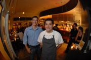 Pete Destler, general manager, and Dylan Fultineer, head chef, of the Hungry Cat.