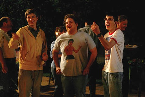 Seth Rogen's ¼ber-foul-mouthed project <em>Superbad</em> teams up the sweetly naive, the sex-crazed, and the nerd in another male bonding film from the Judd Apatow franchise.