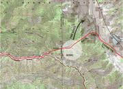 Map showing last section of line needed to be fired in Brubaker and Tinta Canyons. Unfortunately, the fire spotted across the canyon and down along the lower ridge towards Highway 33.