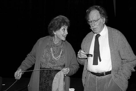 Marilyn Gilbert and Nathan Rundlett in<em> Alas, Poor Fred</em>.