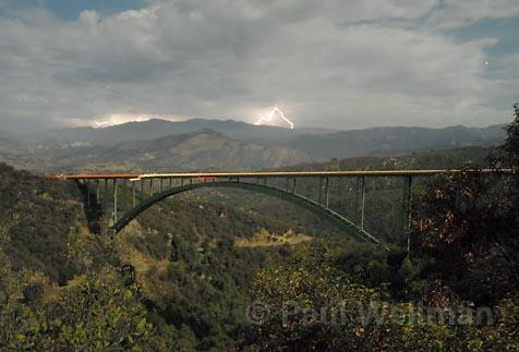 View of the lightning from Cold Springs Bridge