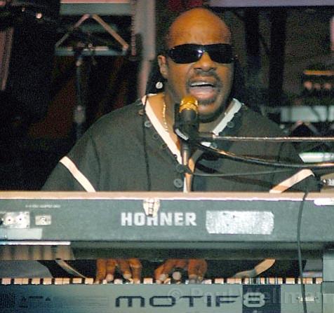 Stevie Wonder at the Santa Barbara Bowl.