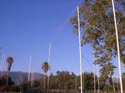 Story poles at the Miramar.