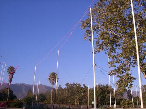 Story poles at the Miramar.