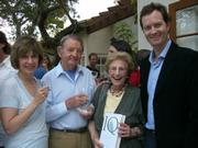 From right, author Stephen Murdoch with Naomi Schwartz, Dr. David Thomas, and Deanna Hatch.