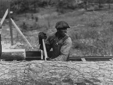 "Jack Delano's ""Heard County, Georgia, 1941 (woods worker)."""
