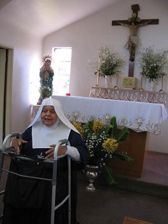 Sister Angela of the Sisters of Bethany.