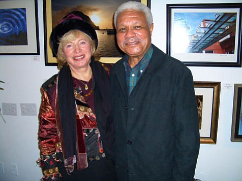 Al Young (right) lends his sonorous voice to the Santa Barbara Book & Author Festival September 29, where he will receive the Distinguished Poet Fellowship awarded by Glenna Luschei (left).
