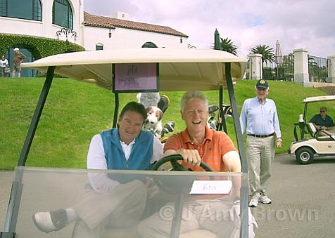 Jimmy Connors and Bill Clinton at the Montecito Country Club on Wednesday afternoon, September 19.