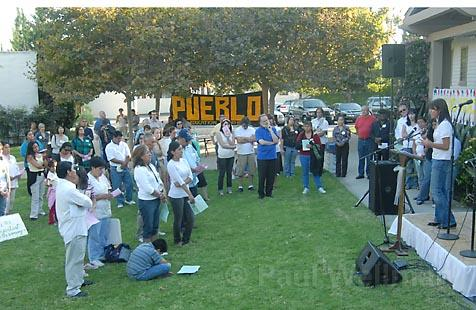 "Immigration activists around the country and here in Santa Barbara (shown at a Sept. 13 vigil) are waiting to see how a federal judge will rule on Homeland Security's new Social Security number ""no match"" letter rule."