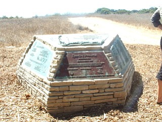The Sperling Preserve's monument.