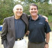 Barry Siegel and his son Tom, who gave a heartfelt, insightful eulogy to his father.