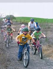 Young bikers learn valuable trail riding skills at Elings Park.
