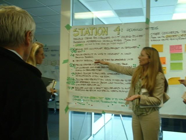 Goleta city planner Ann Wells at the workshop.