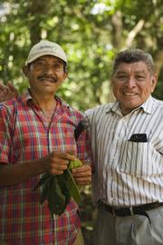 Narciso Torres (left) and Alfonso Tzul, two El Pilar farmers, will visit the El Pilar Festival at the Natural History Museum this Saturday.