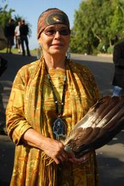 Chumash tribal leader Adelina Alva-Padilla blesses the project.