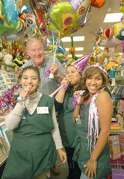 Glenda's Party Cove owner Steve Thomson and his sales staff (from left) Maria Isabel Rodriguez, Gloria Sajche, and Denisse Teutla know how to throw a great shindig.
