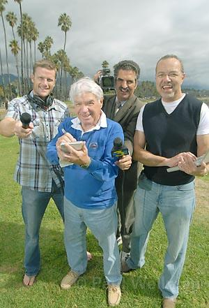 Our very own media moguls (from left): KTYD's Matt McAllister, The Indy's Barney Brantingham, KEYT's John Palminteri, and the blogosphere's Craig Smith.