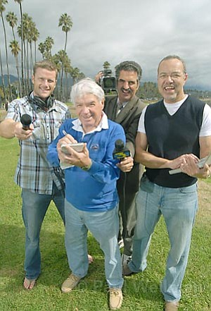 Our very own media moguls (from left): KTYD's Matt McAllister, The Indy's Barney Brantingham, KEYT's John Palminteri, and the blogosphere's Craig Smith.