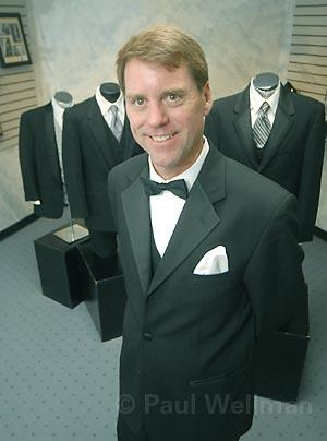 Mission Tuxedos owner John Murray is looking sharp.