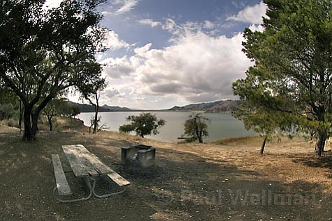 While visitors to Cachuma Lake (pictured) and Jalama Beach will have to pay more to get in, visitors to the rest of the county's parks, including its beaches, will be able to visit for free.