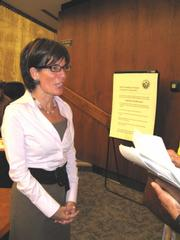 Second District Supervisor Janet Wolf after an October 2007 LAFCo meeting.