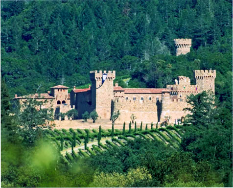 castello di amorosa. Castello di Amorosa from afar.