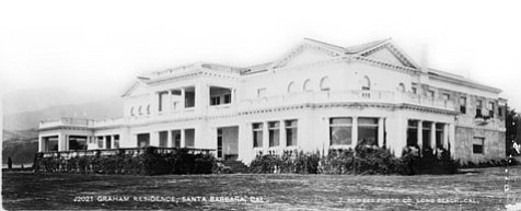 The home of the William Miller Graham family sat on the bluff overlooking East Beach until Eleanor Graham sold it to William A. Clark in 1923.