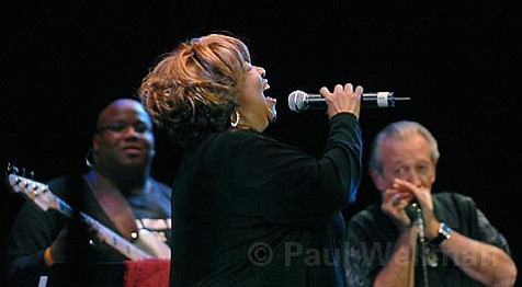 The North Mississippi Allstars helped Mavis Staples bring the house down at Wednesday's  <em>Solid Blues</em> revue.
