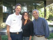MFD Chief Kevin Wallace with the Montecito Association's Mindy Denson and Bill Palladini.