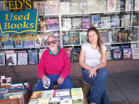 Together, Ted and his granddaughter Justine have run Ted's Books at its current location since 2004.
