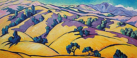 "Robin Gowen's ""Anderson Overlook, 103°F, Sedgwick Ranch."""