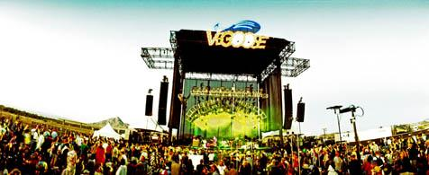 The main stage at the third annual Vegoose Music Festival.