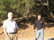 Bill Wallace (left) and Michael Feeney, executive director of the Land Trust for Santa Barbara County.