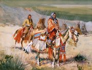 """Blackfoot Women, Western Canada""  watercolor and gouache."