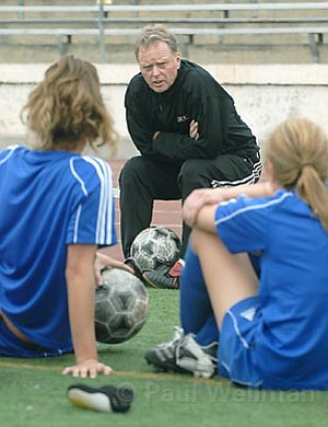 John Sisterson is the head coach of the women's soccer team at SBCC. Ranked No. 6 in the state and done with their regular season, the ladies will host a playoff game next Saturday, November 17.
