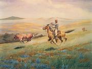 """""""Runaway Steer""""  watercolor."""