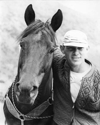 Max Schott (right) with Speedy Peake, 1958.