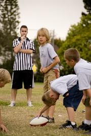 Kids playing flag football in Goleta. Will the city begin sponsoring such sports?