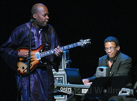 Herbie Hancock (keyboards) with Blue Note recording artist and Downbeat 2007 Rising Star award winner Lionel Loueke on guitar.