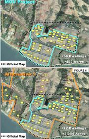 Possible development plans for the Naples property on the Gaviota Coast.