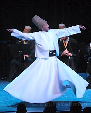 The Whirling Dervishes of Turkey brought their ancient, mystic tradition to Campbell Hall.