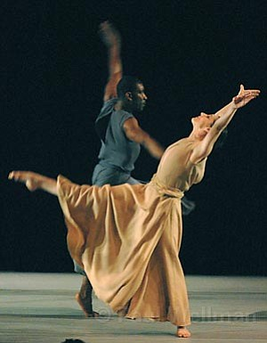 """Laurence Lemieux, co-artistic director of Coleman Lemieux & Compagnie, was also the featured dancer in the program's final piece, """"In Paradisum."""""""